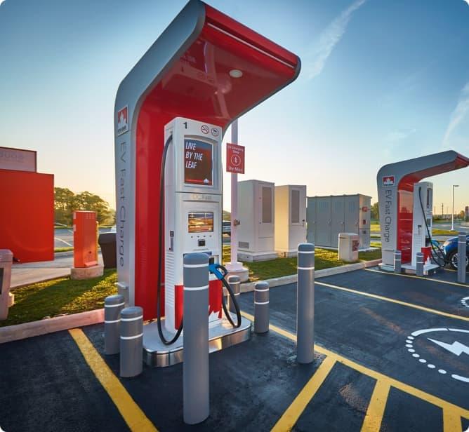 L'une des bornes de recharge de Petro-Canada.