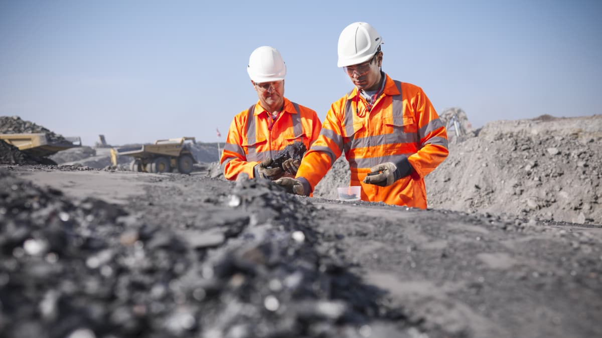 Two miners working
