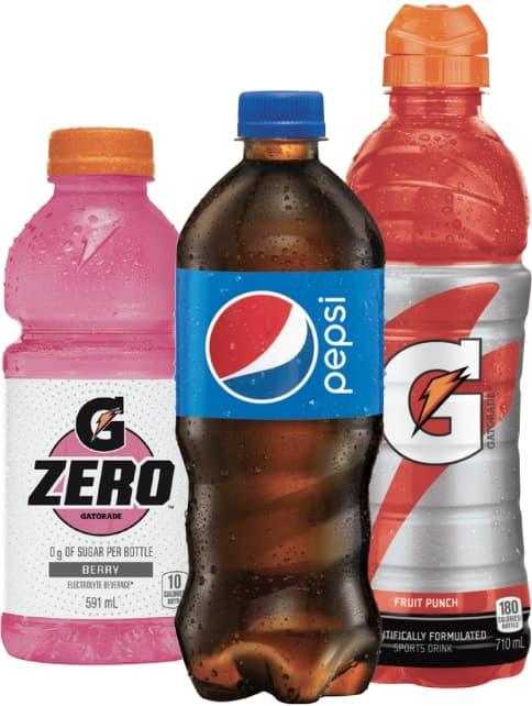 G Zero, Pepsi and Gatorade from PepsiCo