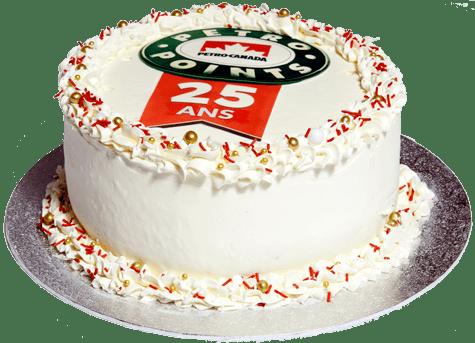 Gâteau d'anniversaire de 25 ans