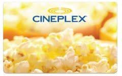 Carte cadeau électronique Cineplex