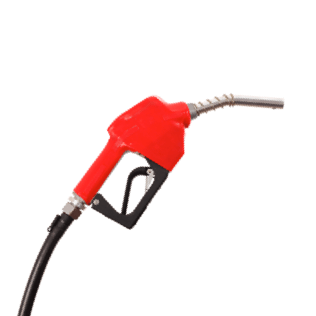 The pump end of a fuel pump