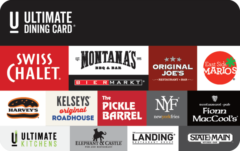Ultimate dining egift card