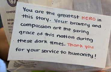 Remercier nos travailleurs de la santé.