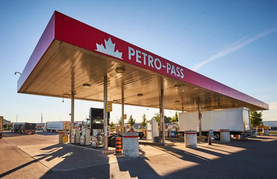 A Petro-Pass card lock truck stop.