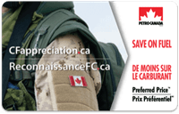Canadian Forces Appreciation Preferred Price Card