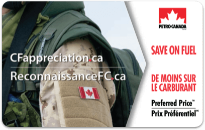 Canadian Forces Appreciation Preferred Price Card
