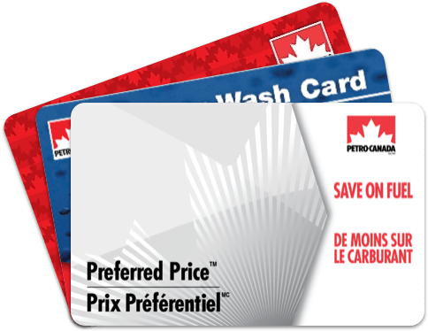 Fanned out cards available with Petro-Canada's business incentive program.