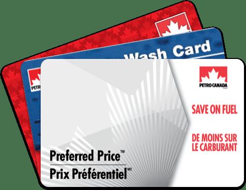 Cartes-cadeaux disponibles avec le programme Solutions encouragement de Petro-Canada.