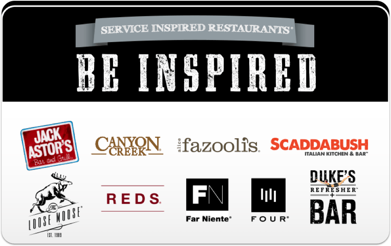Service Inspired Restaurants gift card