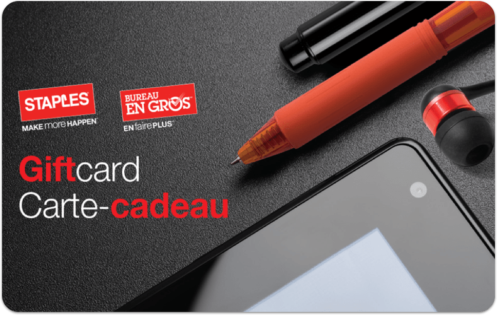 Carte-cadeau Staples
