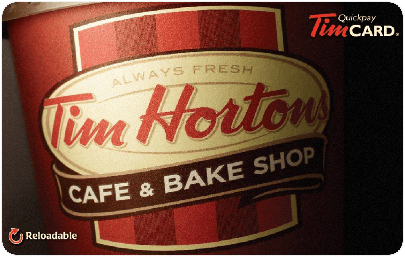 Tim Hortons gift card