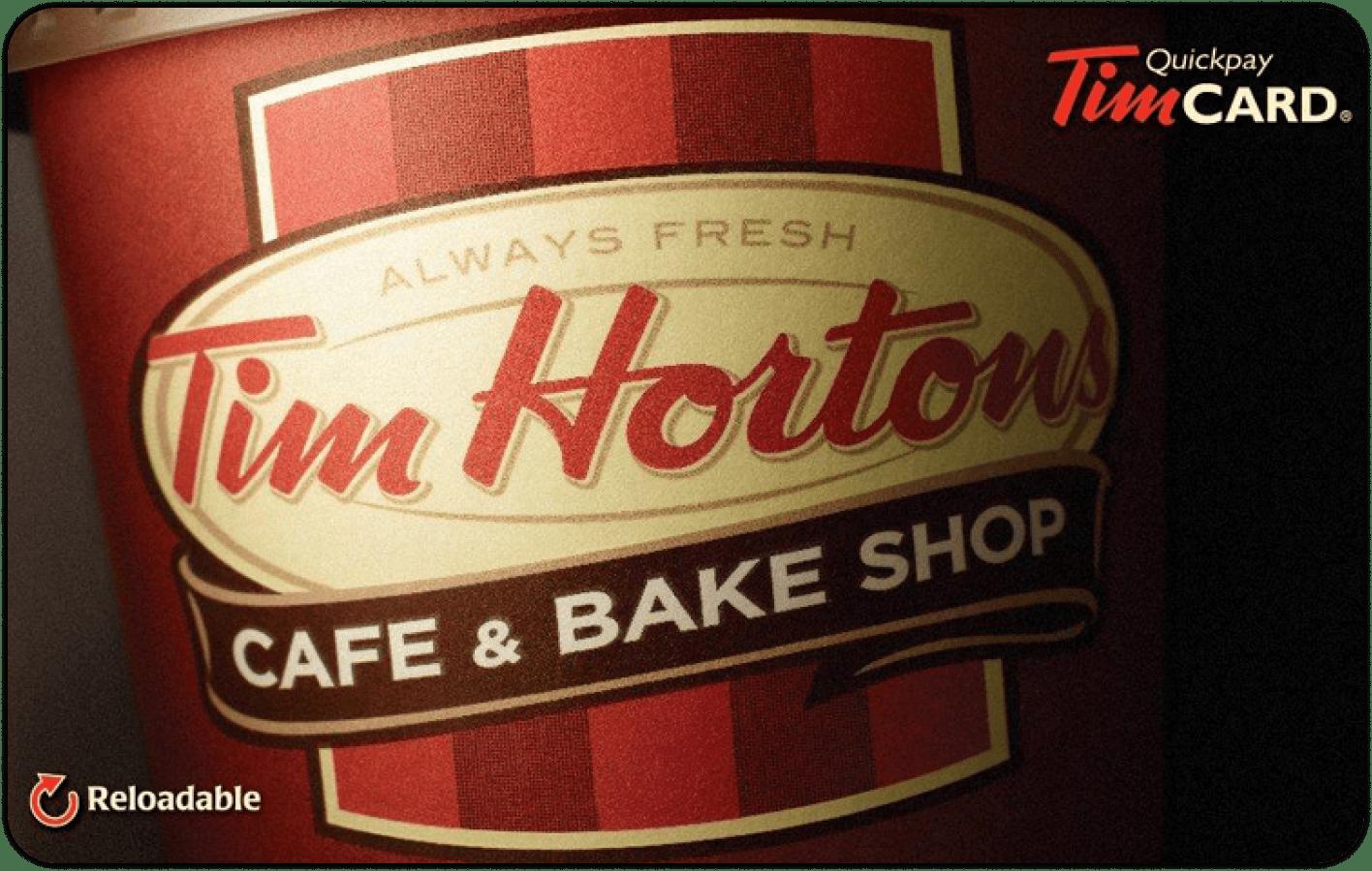 Carte-cadeau Tim Hortons