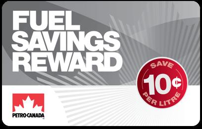 Petro-Canada fuel savings card - Fuel Savings Reward 10¢ card