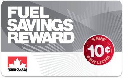 Petro-Canada fuel savings card - Fuel Savings Reward 10¢ card
