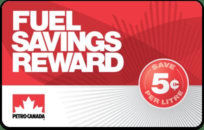 Petro-Canada fuel savings card - Fuel Savings Reward 5¢ card
