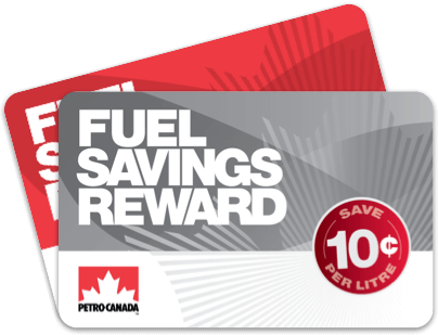Fanned Fuel Savings Reward 5¢ and 10¢ cards
