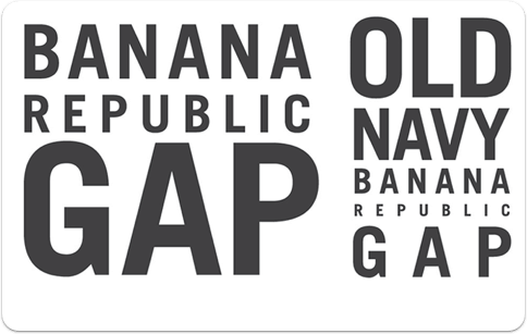 Gap, Banana Republic and Old Navy gift card