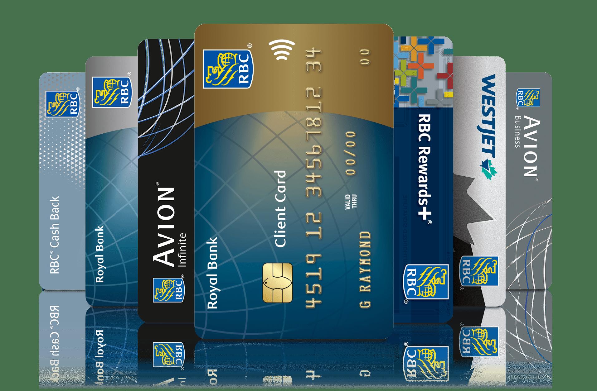Cartes de débit et de crédit RBC