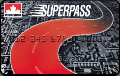 Petro-Canada SuperPass card