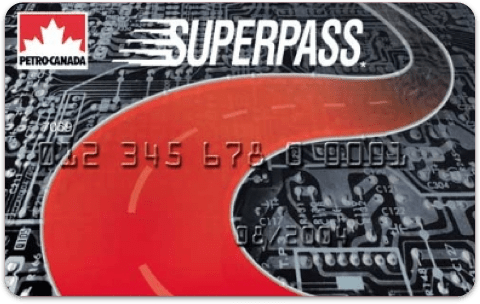 Petro-Canada SuperPass card