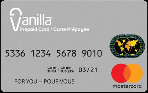 Vanilla Mastercard gift card
