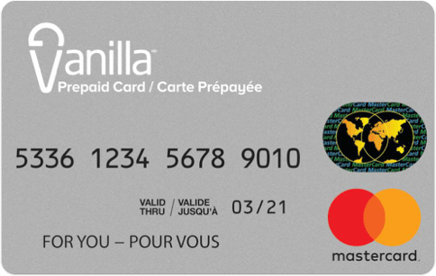 Carte-cadeau Vanilla Mastercard