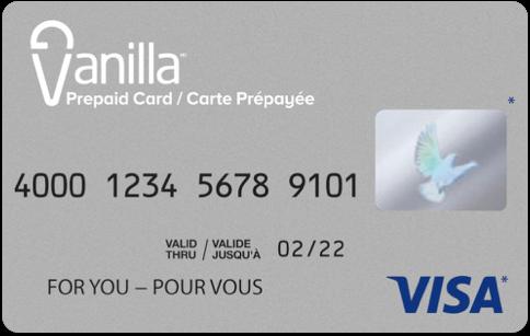 Carte-cadeau prépayée Vanilla Visa