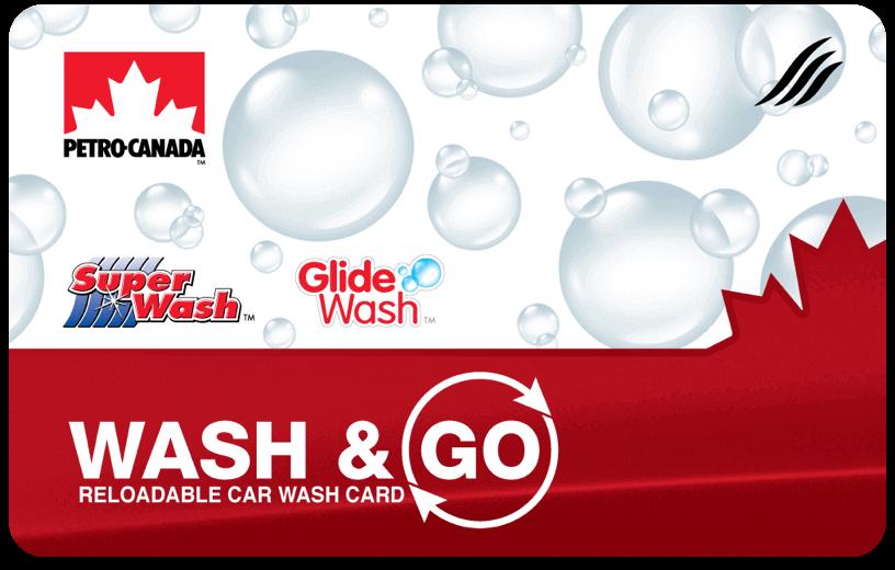 Petro-Canada Wash and Go car wash card