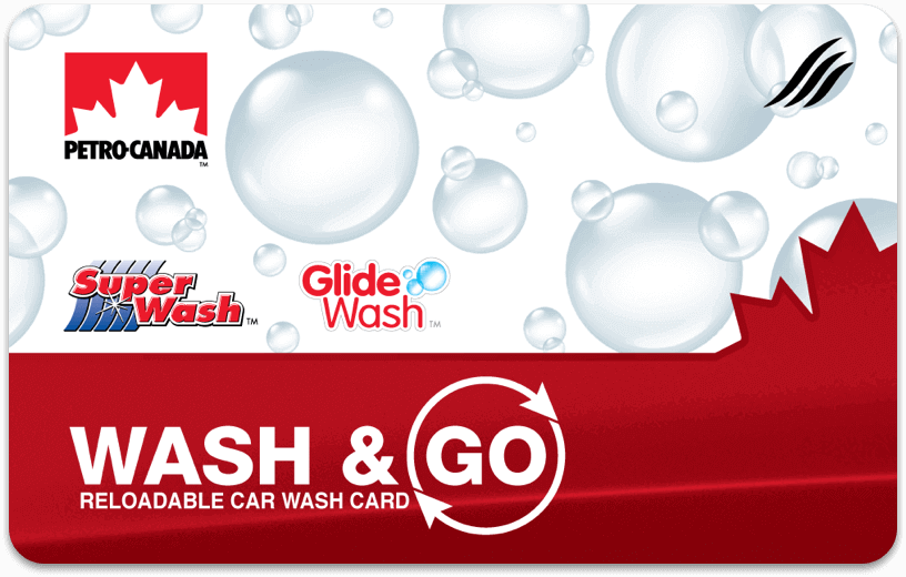 Petro-Canada Wash and Go car wash card