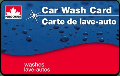 Carte de lave-auto