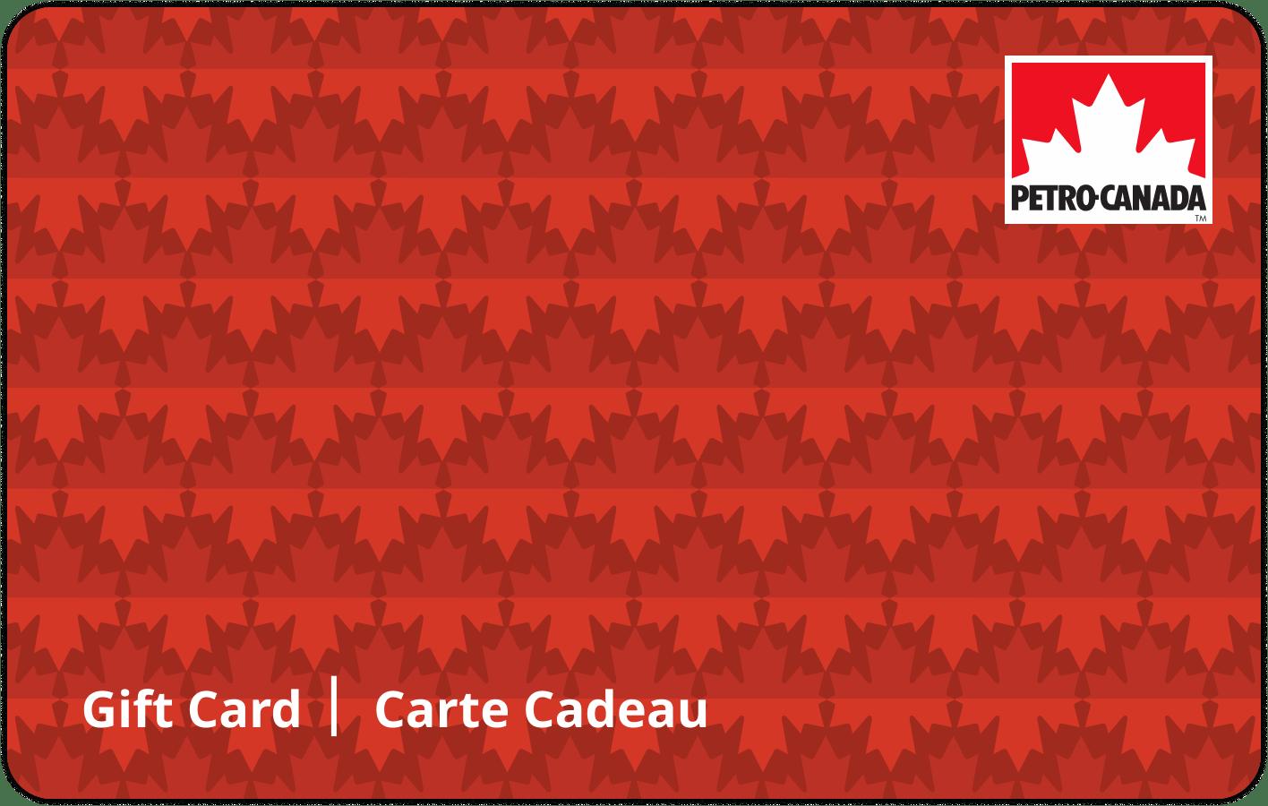 Carte-cadeau Petro-Canada de 25 dollars
